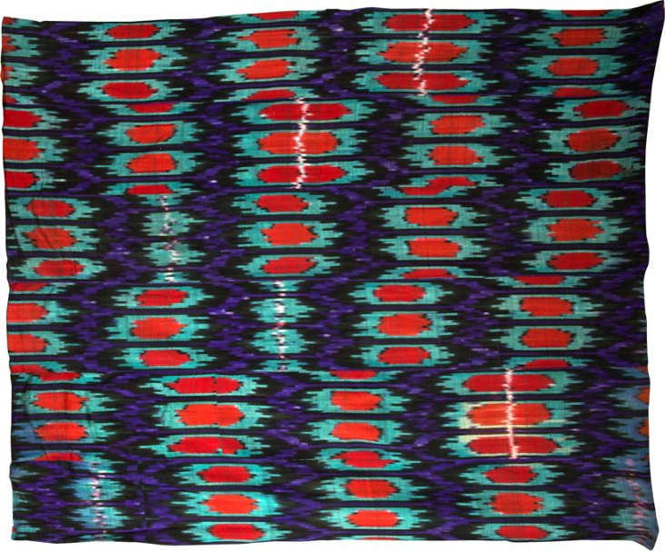 Vintage Ikat, Purple & Green