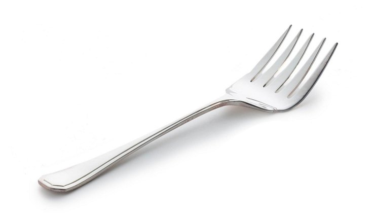 Silver-Plated Grecian Cold-Meat Fork
