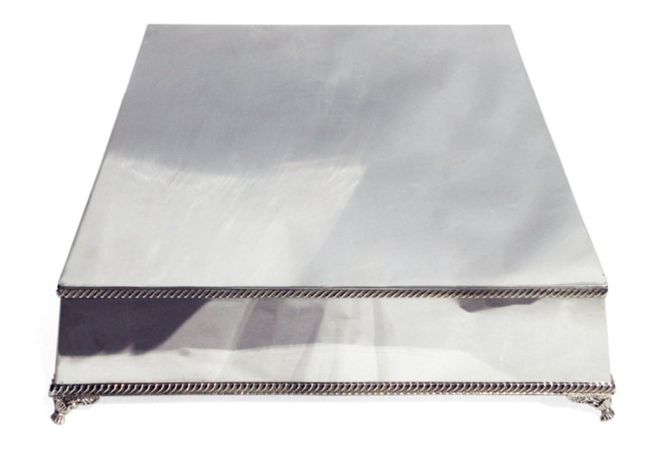 """Silver-Plated Cake Stand, 16"""""""
