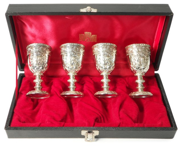 Silver-Plated Cordials Box Set