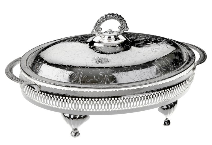 4-Division Hors d'Oeuvre Tray w/ Lid