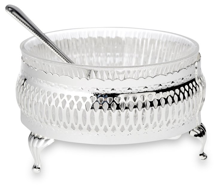 Silver-Plated Sugar Bowl