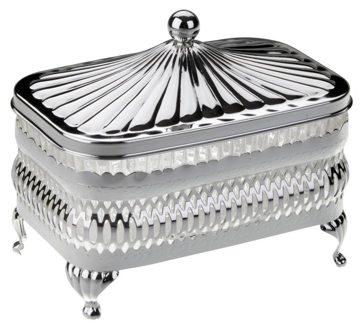 Silver-Plated Oblong Butter Dish