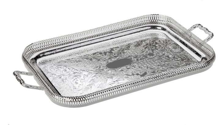 Oblong Gallery Tray w/ Handles