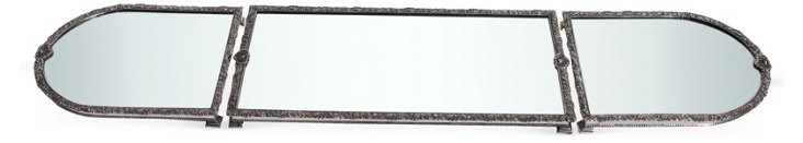3-Section Silver-Plate & Mirror Plateau