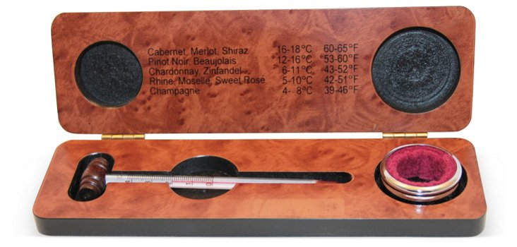 Drop Ring & Thermometer in Wood Box