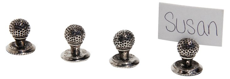 S/4 Golf Ball Place Card Holders