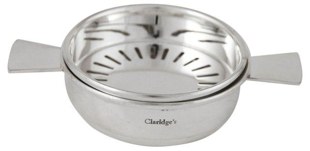 """Claridge's"" Silver-Plated Butter Dish"