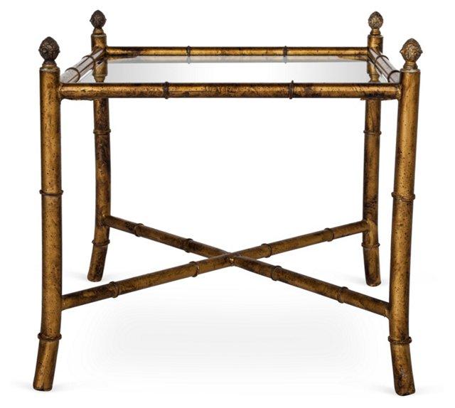 Gilt Bamboo-Style Table