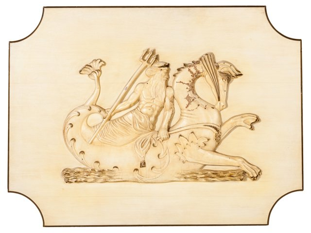 King Neptune on Seahorse Plaque
