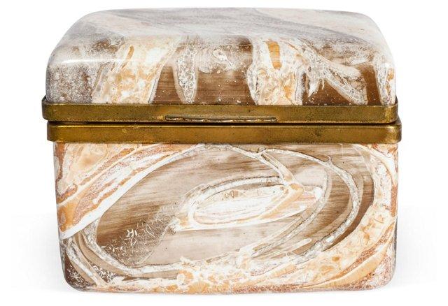 Marbleized Hinged Italian Box