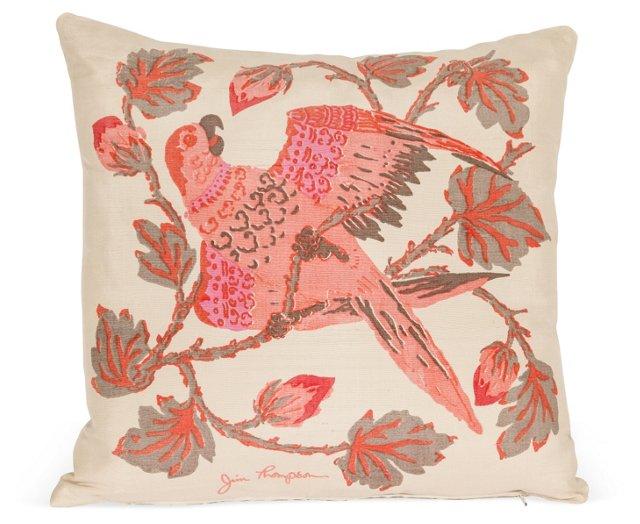 Jim Thompson Silk Bird Pillow