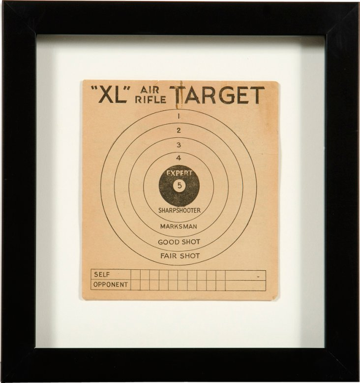 "Framed vintage target ""XL Air Rifle"""