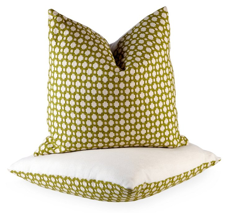 Green Betwixt Pillows, Pair