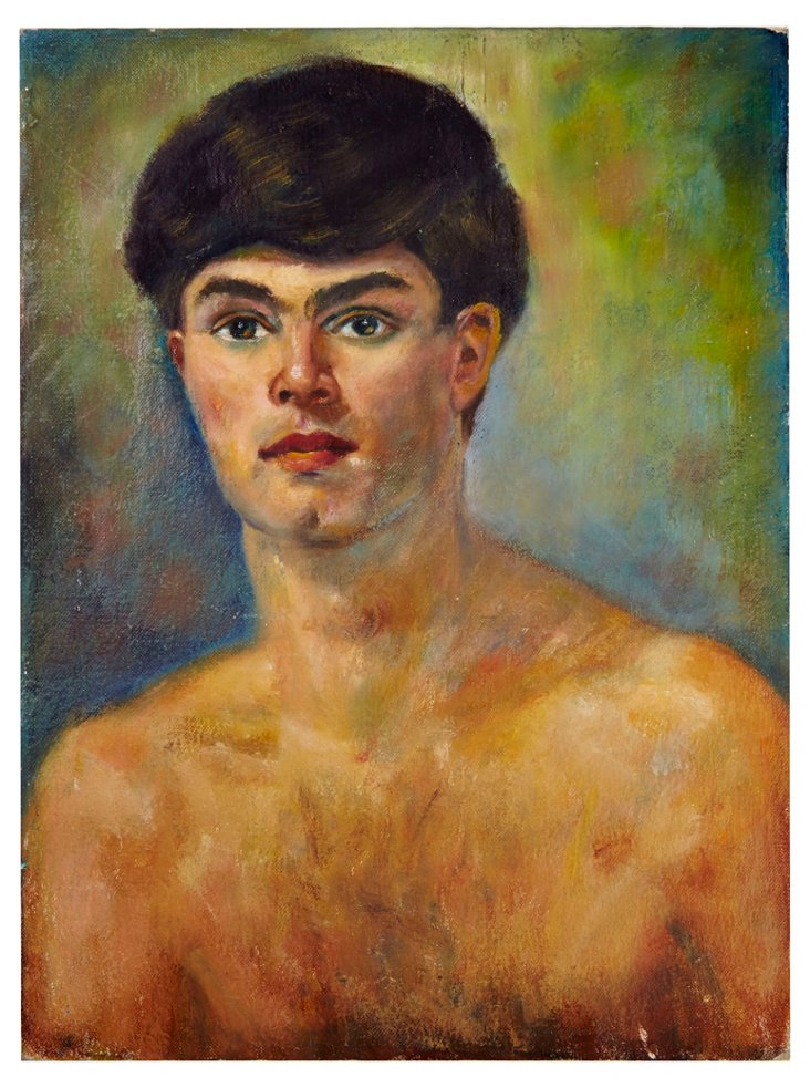 Young Man Oil Painting