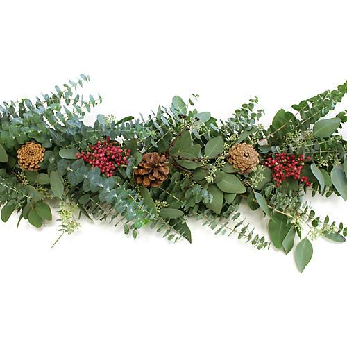 6' Eucalyptus & Pepper Berry Garland