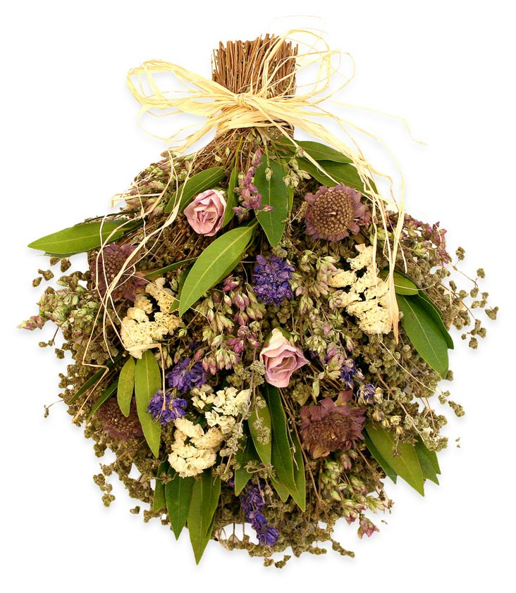 "13"" Oregano & Lavender Bouquet, Dried"