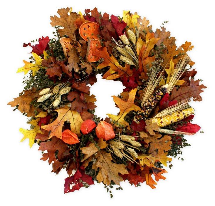 "18"" Corn & Millet Wreath, Dried"