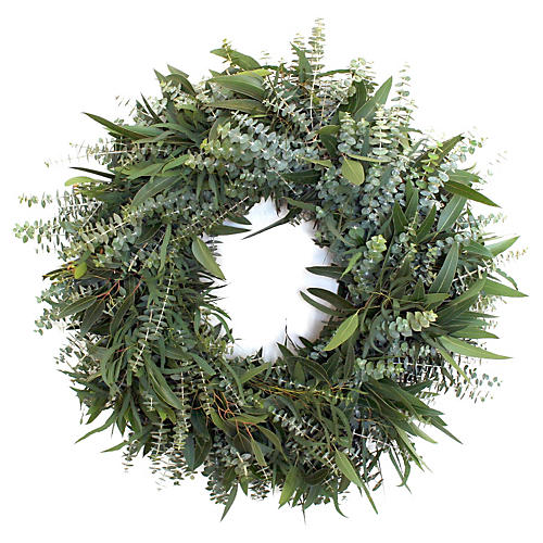 Mixed Eucalyptus Live Wreath