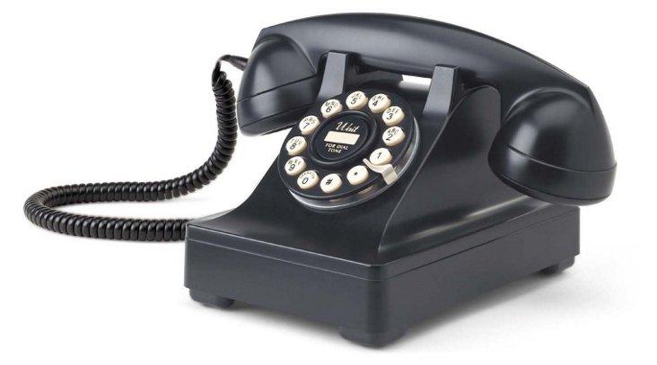 Kettle Desk Phone, Black