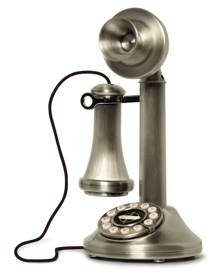 Candlestick Phone, Brushed Chrome