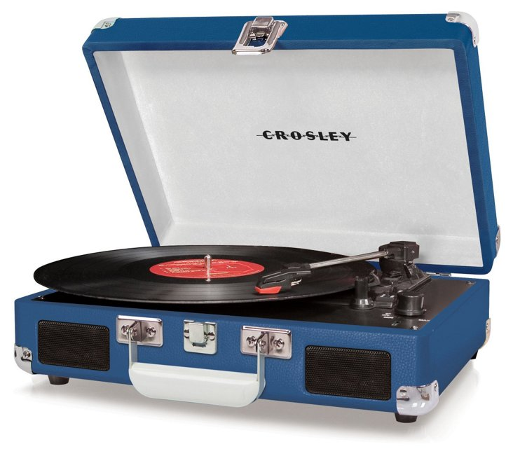 Cruiser Portable Turntable, Blue