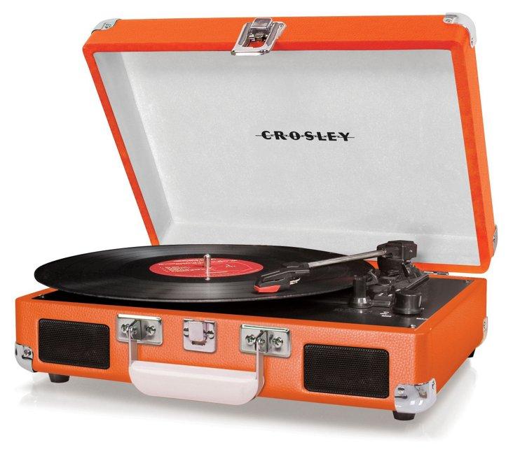 Cruiser Portable Turntable, Orange