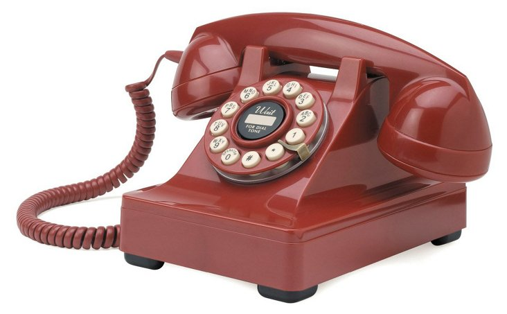 Kettle Desk Phone, Red