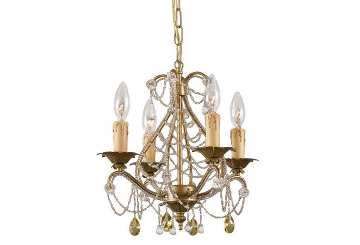 Abigail Mini Chandelier, Gold