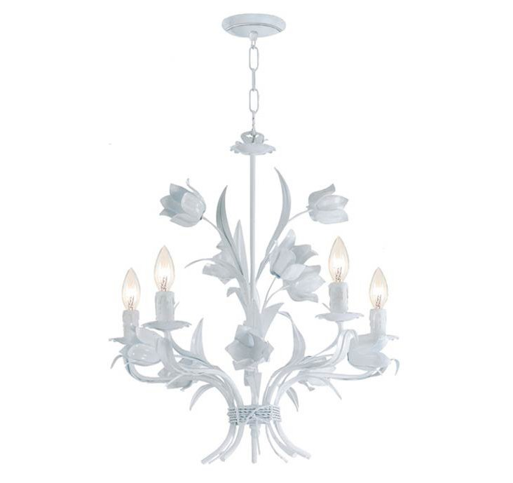 Amour 5-Light Chandelier, White