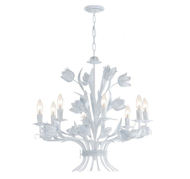 Amour 8-Light Chandelier, White