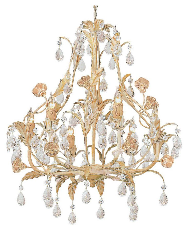 Duchess 6-Light Chandelier, Champagne