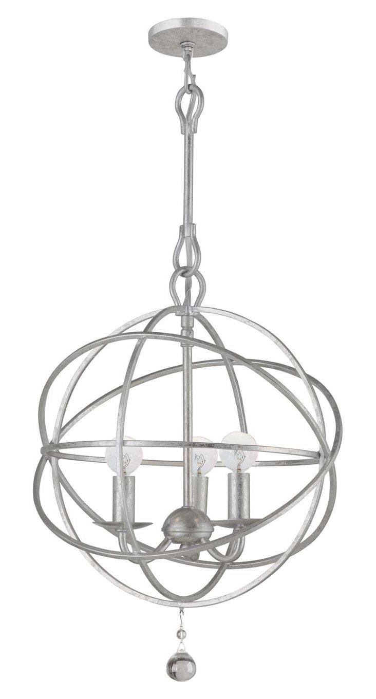 Stella 3-Light Chandelier, Silver