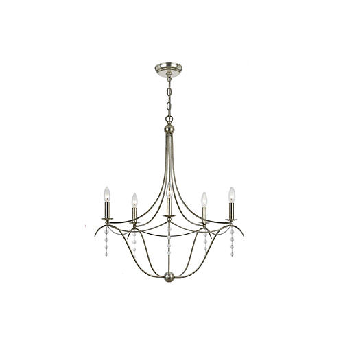 Chelsea 5-Light Chandelier, Silver