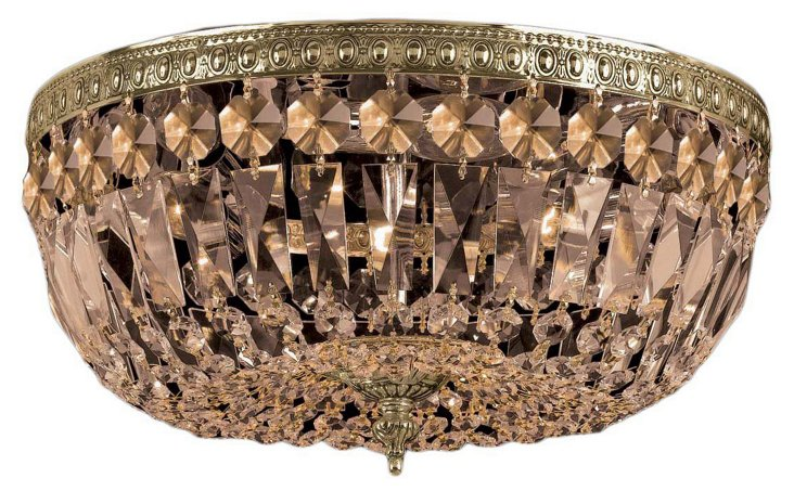 Richmond 5-Light Flush Mount, Gold