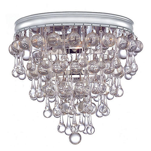 Casey 3-Light Flush Mount, Chrome