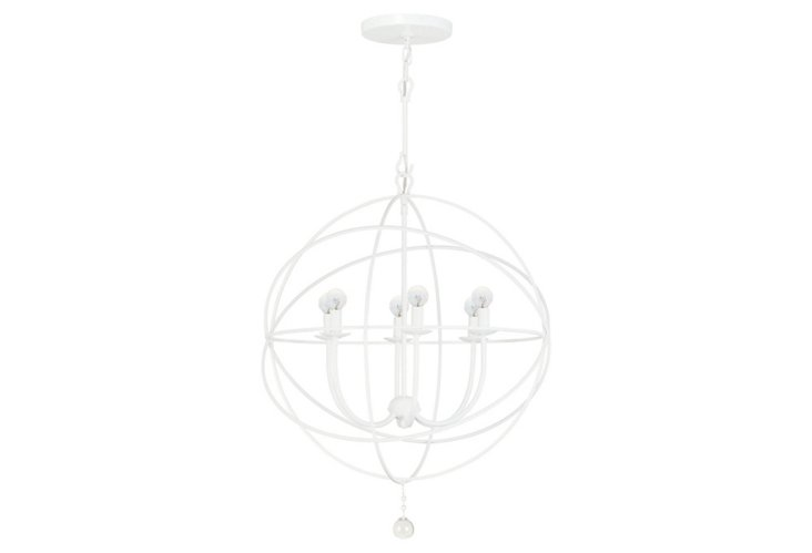 Stella 6-Light Medium Chandelier, White