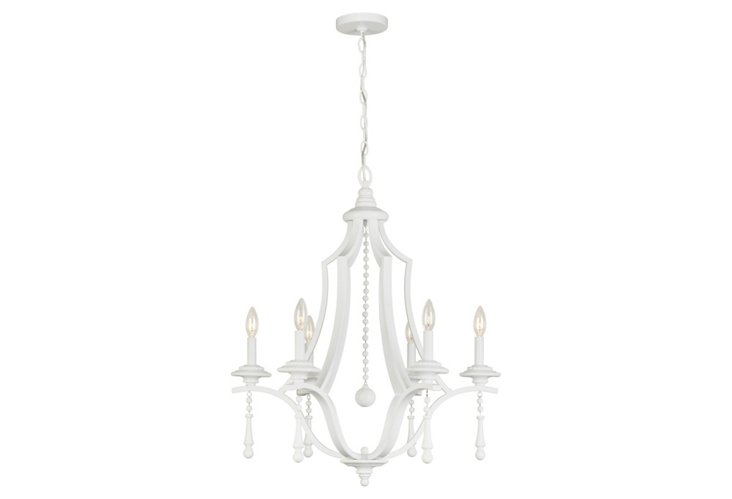 Chelsea 6-Light Chandelier, White