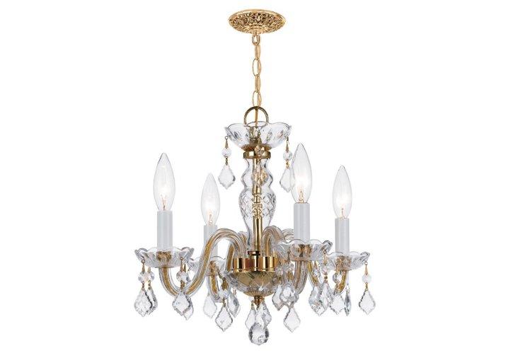 Cora 4-Light Chandelier, Brass
