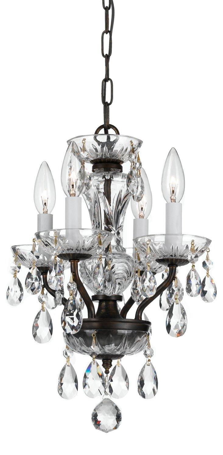 Victoria 4-Light Chandelier, Bronze