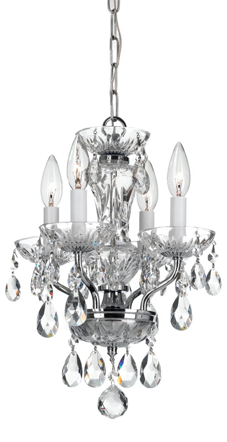 Victoria 4-Light Chandelier, Chrome