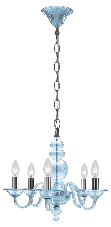 Brooklyn 5-Light Chandelier, Ice Blue