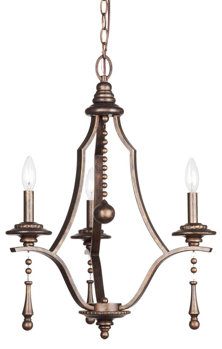 Parson 3-Light Chandelier, Bronze