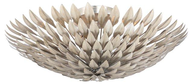 Broche 6-Light Semi-Flush Mount, Silver