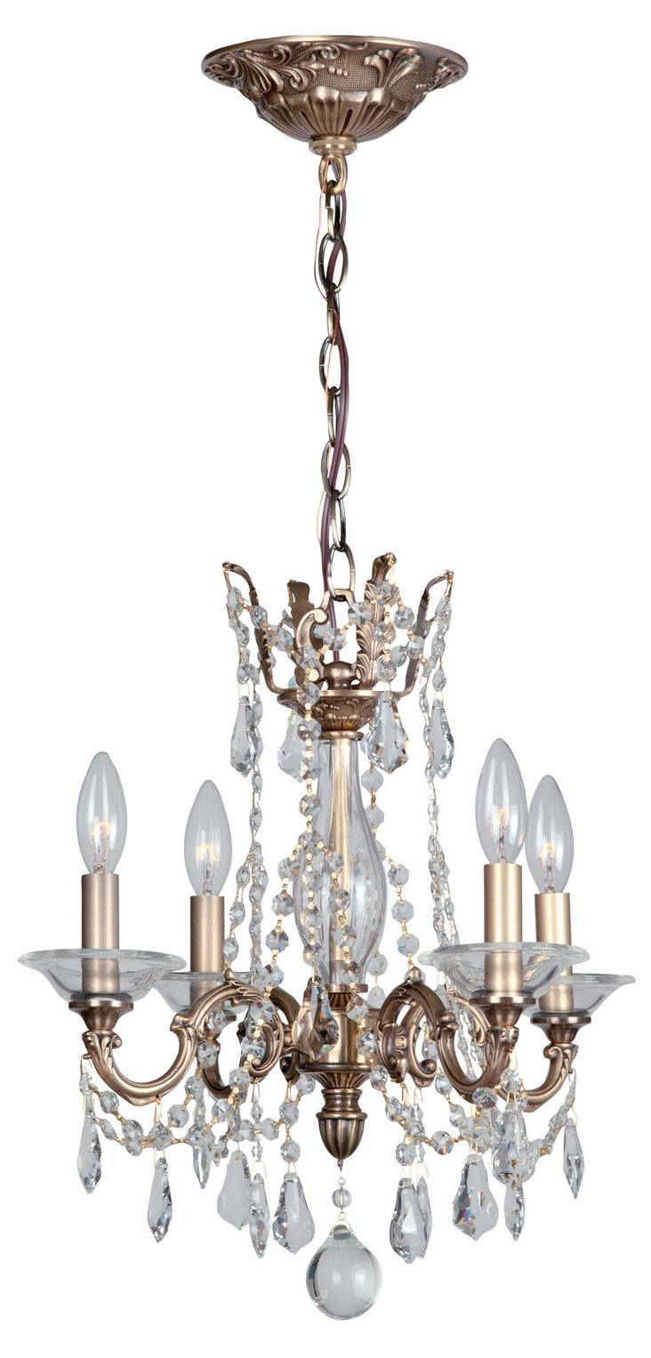 Delancey 4-Light Mini Chandelier, Bronze