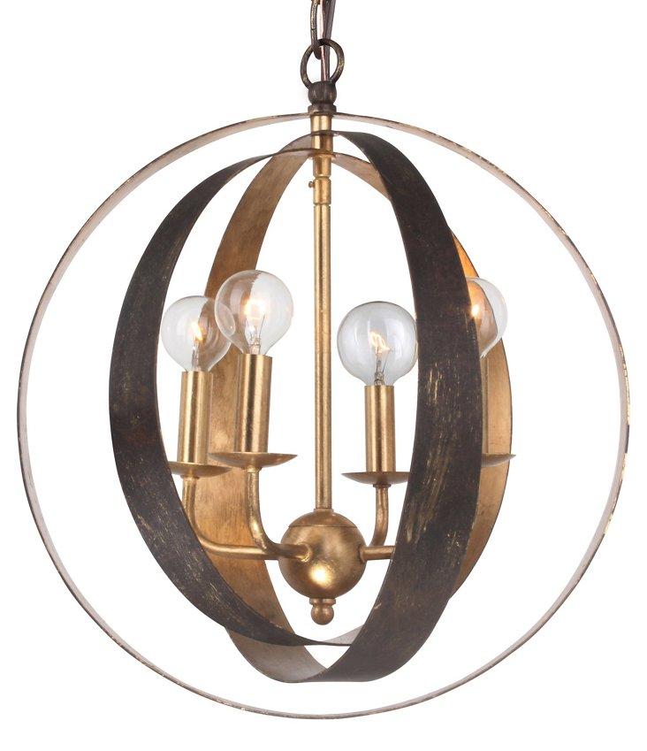 Luna 1-Light Sphere Chandelier, Small