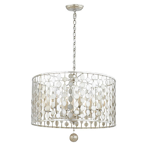 Layla Chandelier, Antique Silver
