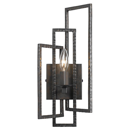 Capri 1-Light Sconce, Raw Steel