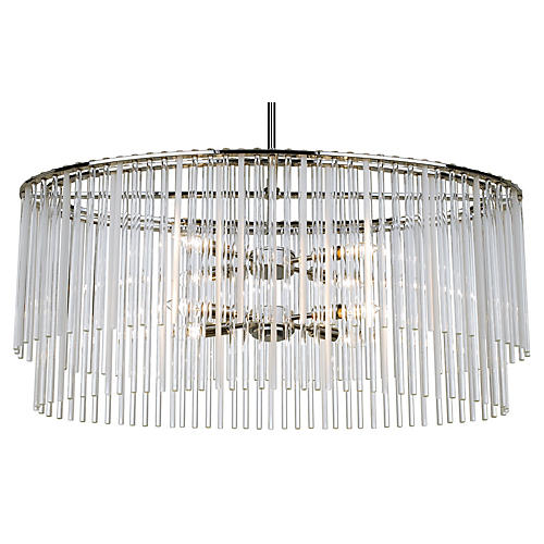 Bleecker 8-Light Chandelier, Chrome