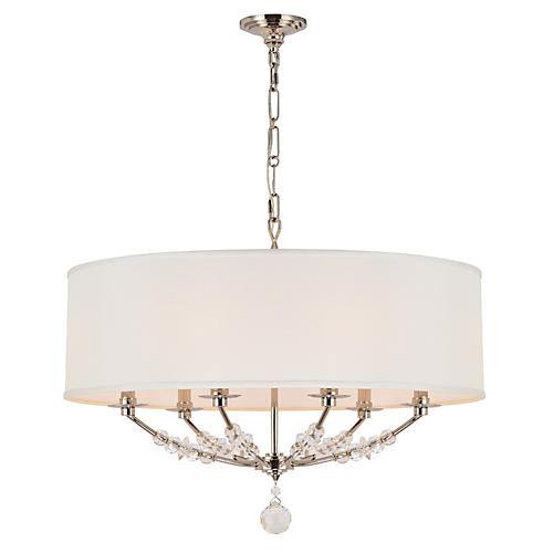Mirage 6-Light Chandelier, Nickel